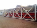 Inline Aggregate bin hooper with weighing belt suitable for moderate capacity plants.